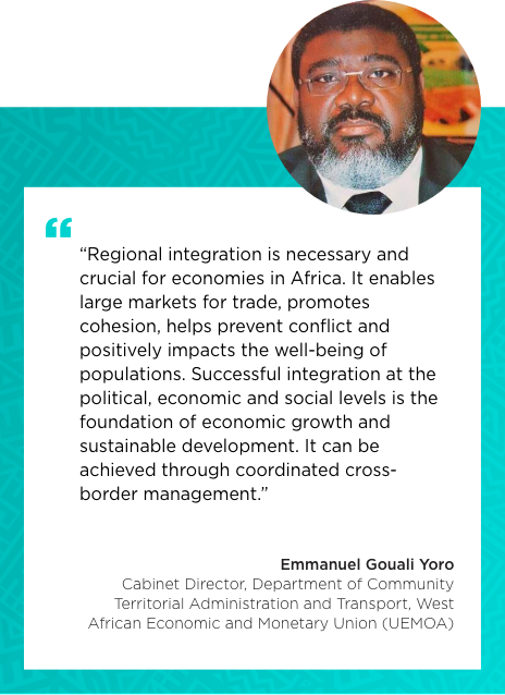 Testimonial of Mr. Emmanuel Gouali Yoro Cabinet Director, Department of Community Territorial Administration and Transport (DATC), West African Economic and Monetary Union (UEMOA)