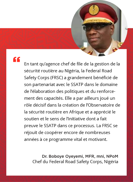 Testimonial of Dr. Boboye Oyeyemi, Corps Marshal, Federal Road Safety Corps, Nigeria