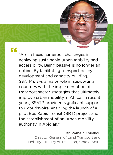 Testimonial of Mr. Romain Kouakou, Director General of Land Transport and Mobility, Ministry of Transport, Cote d'Ivoire