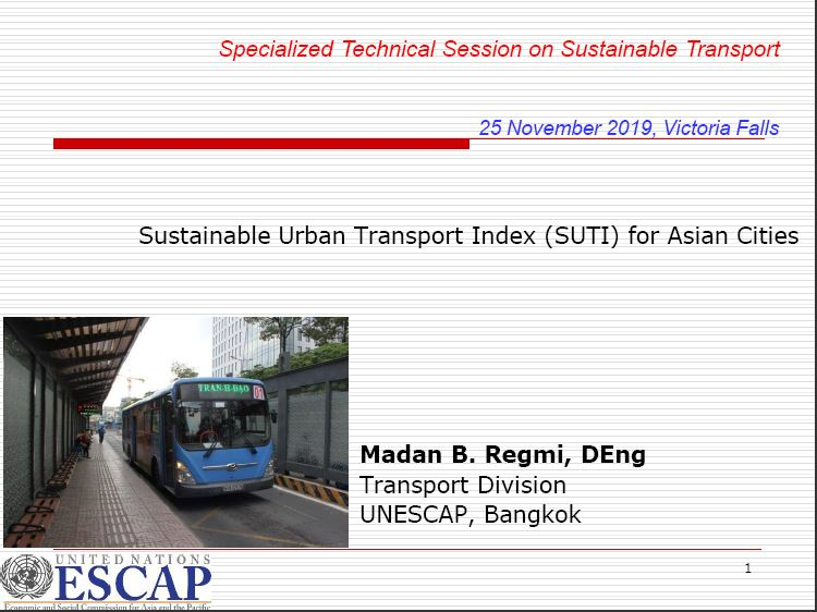 Sustainable Urban Transport Index (SUTI) for Asian Cities