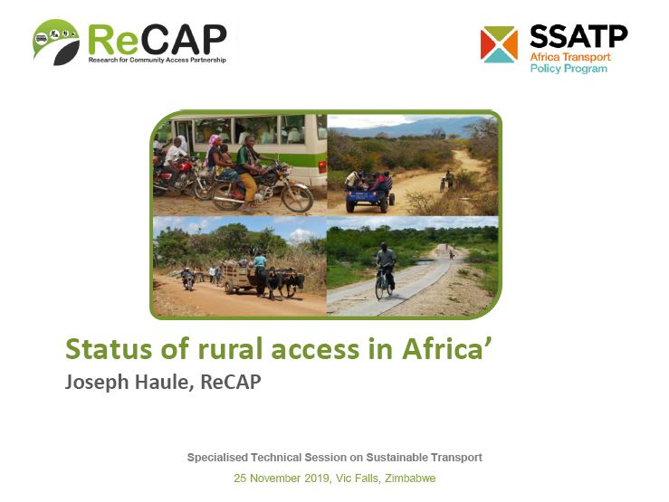 Status of Rural Access in Africa