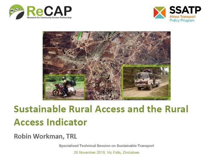 Sustainable Rural Access and the Rural Access Indicator