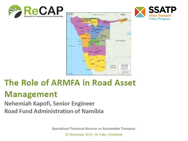 The Role of ARMFA in Road Asset Management