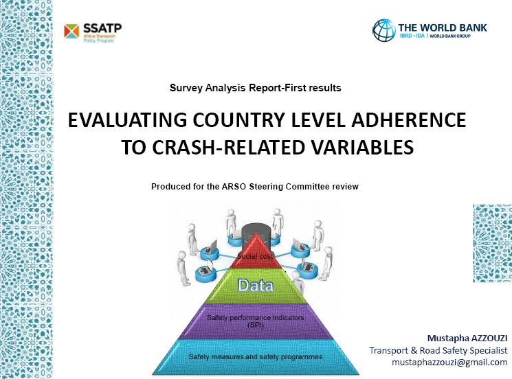 Survey Analysis Report - First Results: Evaluating Country Level Adherence to Crash-Related Variables
