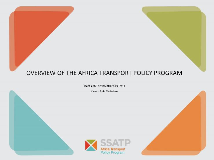 Overview of the Africa Transport Policy Program