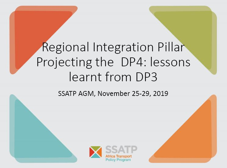 Regional Integration Pillar Projecting the DP4: Lessons Learnt from DP3