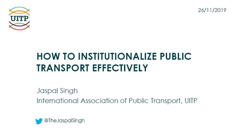 How to Institutionalize Public Transport Effectively
