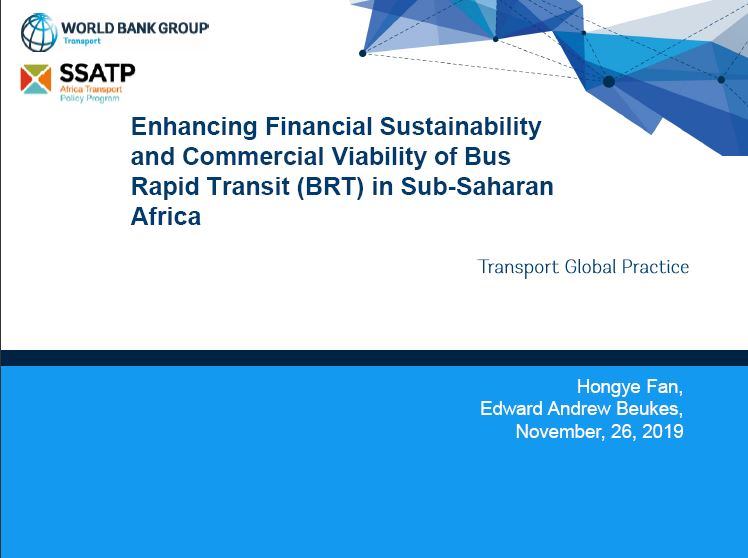 Enhancing Financial Sustainability and Commercial Viability of Bus Rapid Transit (BRT) in Sub-Saharan Africa