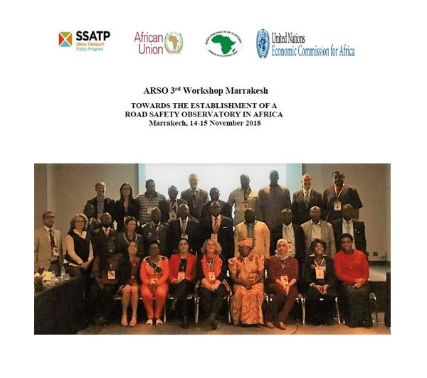 3rd ARSO Workshop in Marrakesh: Towards the Establishment of a Road Safety Observatory in Africa