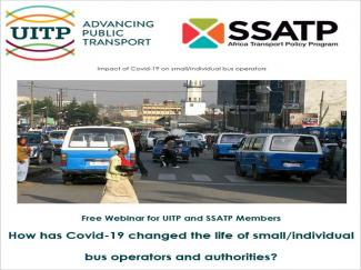 SSATP & UITP Webinar Series 1: How has COVID-19 changed the life of small/individual bus…
