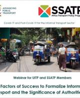 Joint UITP & SSATP Webinar 2: Key Factors of Success to Formalize Informal Transport and the Significance of Authorities