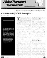 Concessioning of Rail Transport -- A New Approach to Restructuring Railways in Sub-Saharan Africa