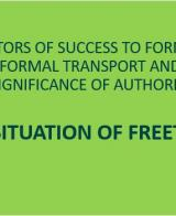 2nd UITP & SSATP Informal Transport Webinar: Presentation on Reforming Freetown's Informal Transport Sector