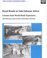 Rural Roads in Sub-Saharan Africa: Lessons from World Bank Experience